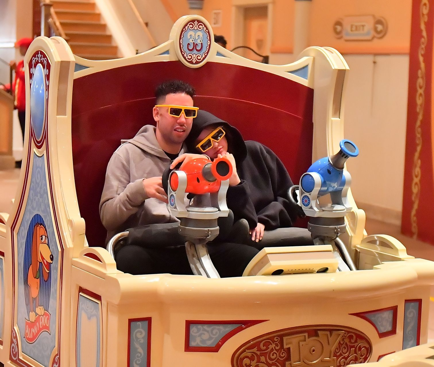 EXCLUSIVE: **WEB EMBARGO 1:30 pm EST 7th May 2019** Selena Gomez looks happy as she enjoys a night out at Disneyland with friends