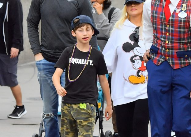 EXCLUSIVE: Christina Aguilera and her husband Matthew Rutler spend the day at Disneyland with her kids