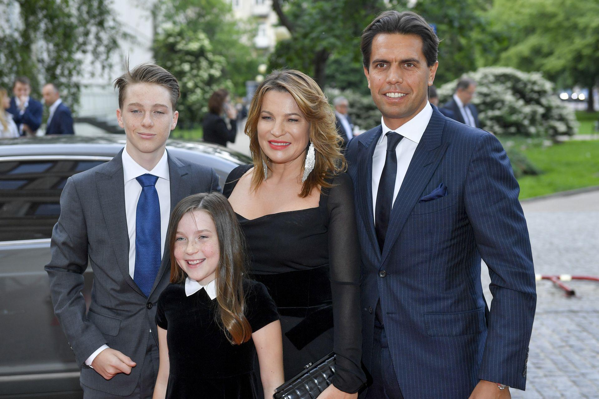 Aldona Wejchert z rodziną