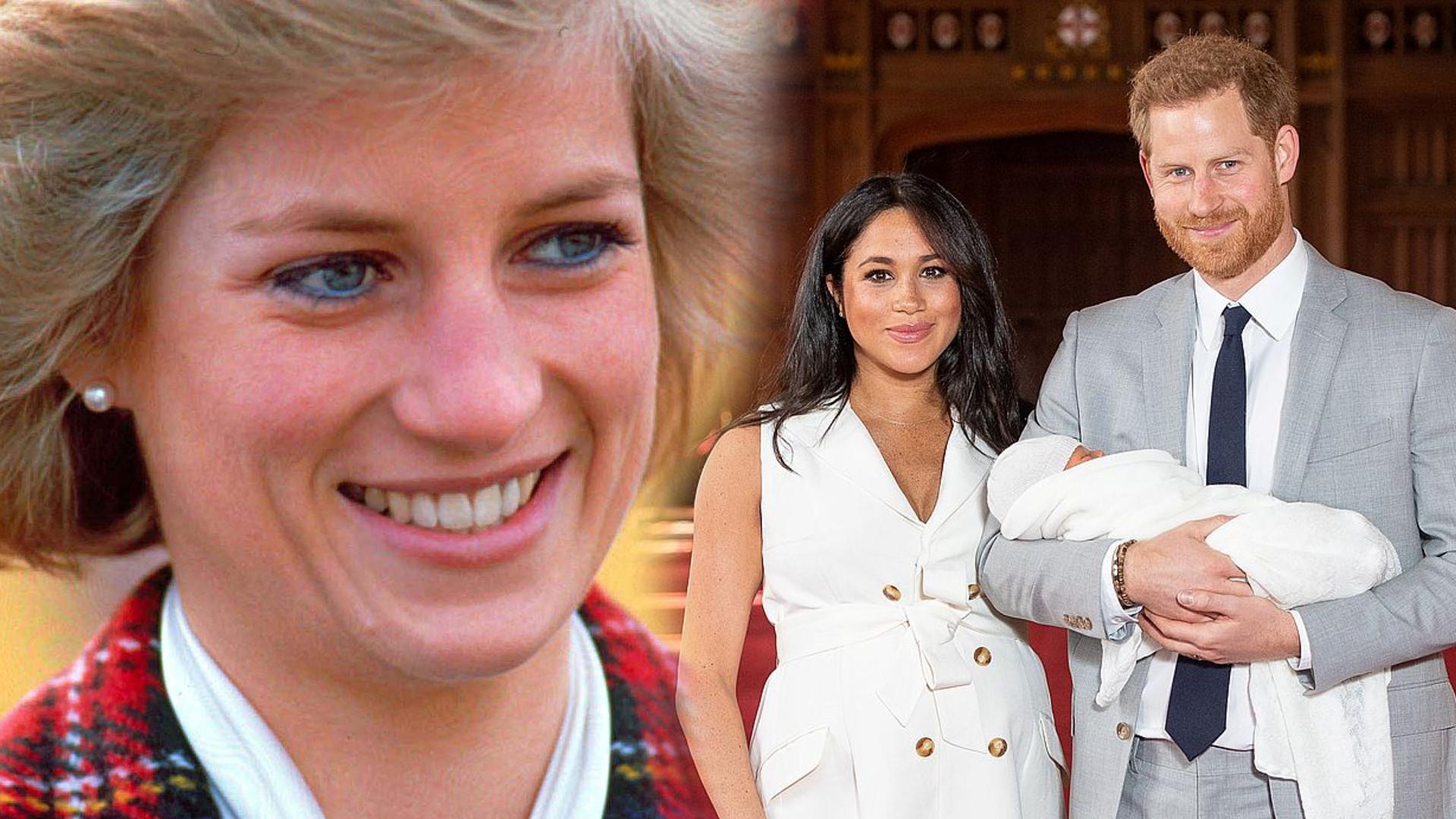 To specjalnie dla synka Harry'ego i Meghan. Księżna Diana dała piękny ZNAK!