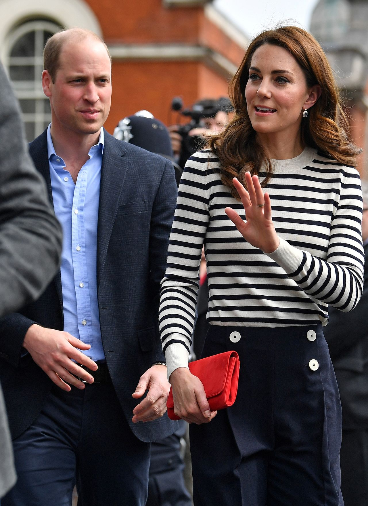 Britain's Prince William and Catherine, Duchess of Cambridge, launch the King's Cup Regatta in London