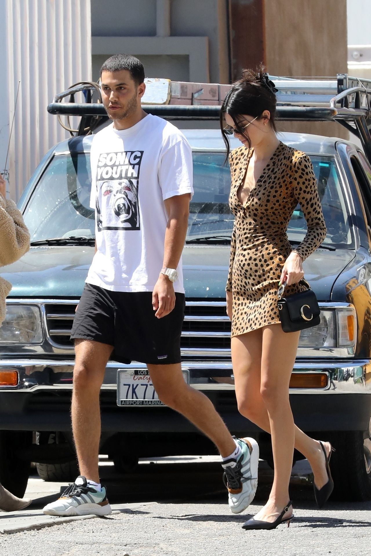 *EXCLUSIVE* Kendall Jenner makes leopard the new black! Kendall Jenner, Fai Khadra