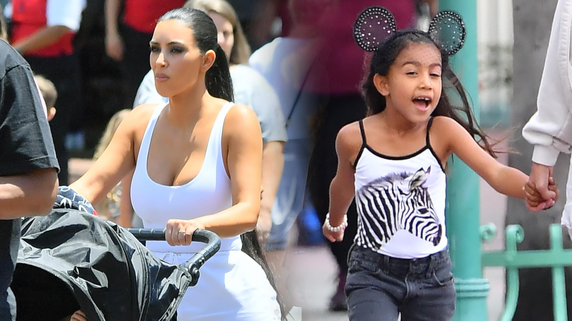 Kim Kardashian zabrała North do Disneylandu – uciekły w ostatniej chwili przed wielką ULEWĄ