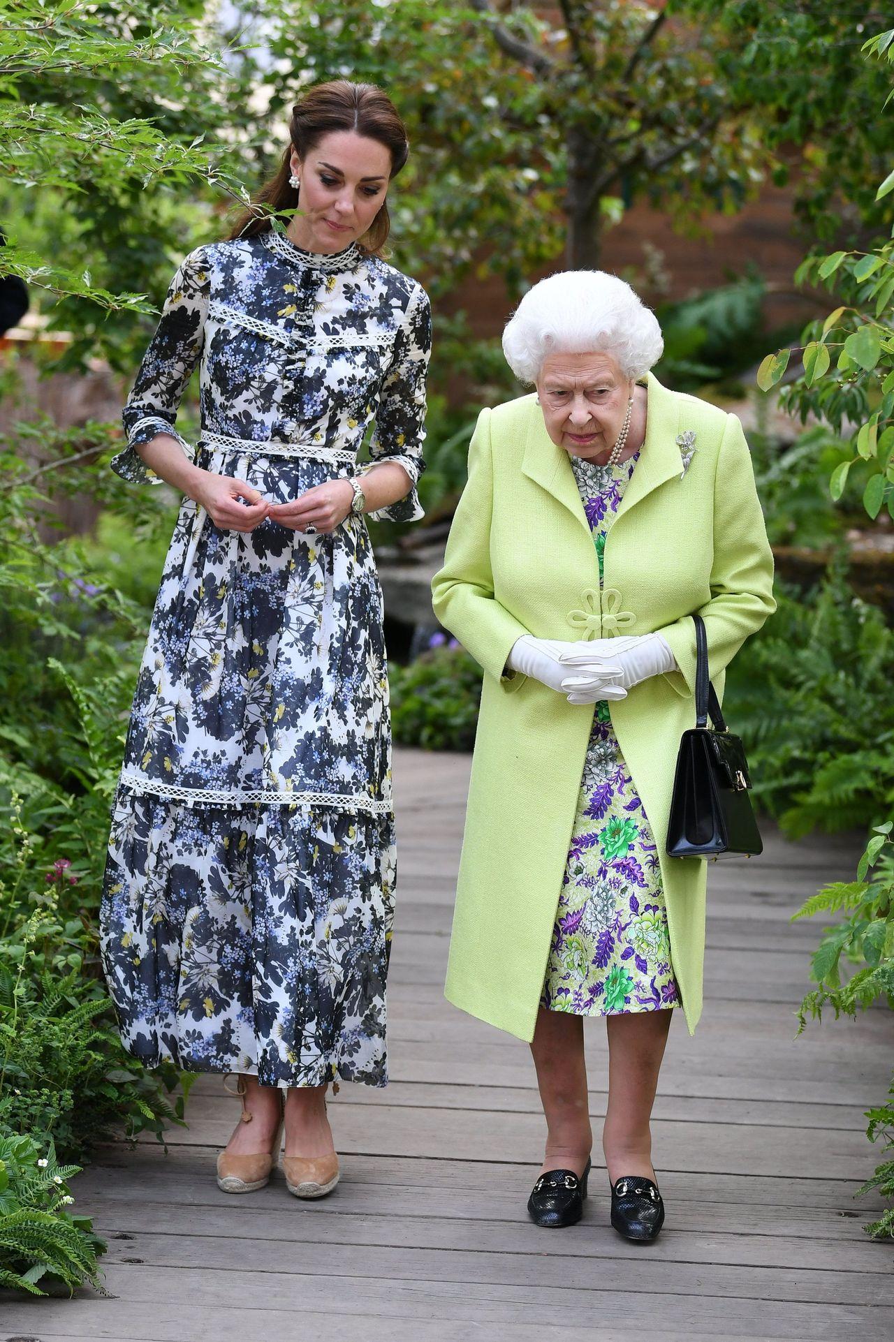 Księżna Kate i Królowa Elżbiera