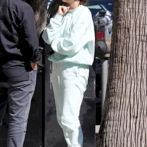 Selena Gomez hugs it out with her team after lunch at Joan's On Third Selena Gomez