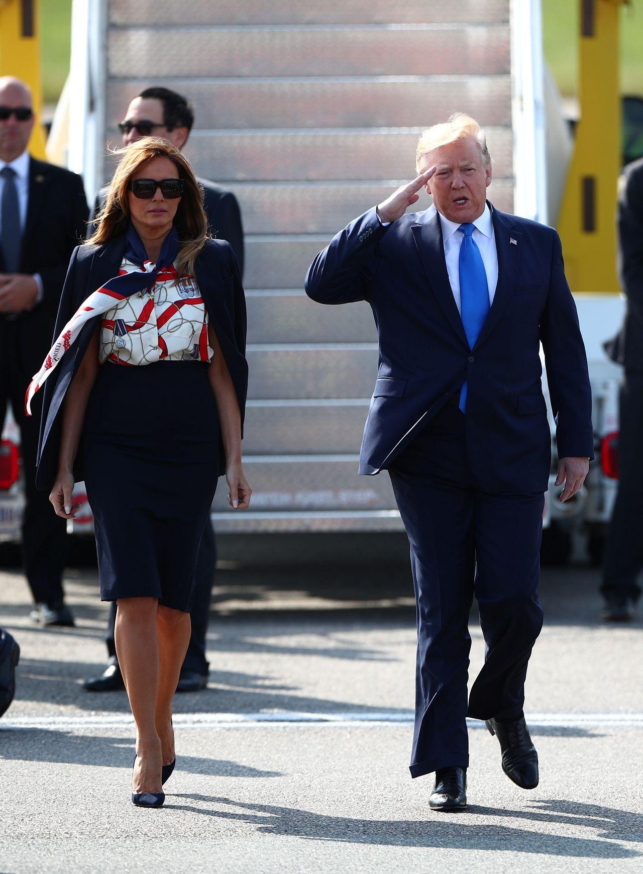 KREACJE Melanii Trump w czasie wizyty w Londynie