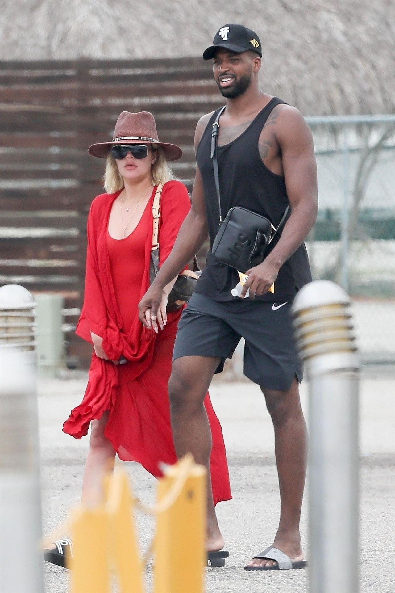 *EXCLUSIVE* Khloe Kardashian and Kendall Jenner head home after their double date on the beach in Mexico Khloe Kardashian, Tristan Thompson