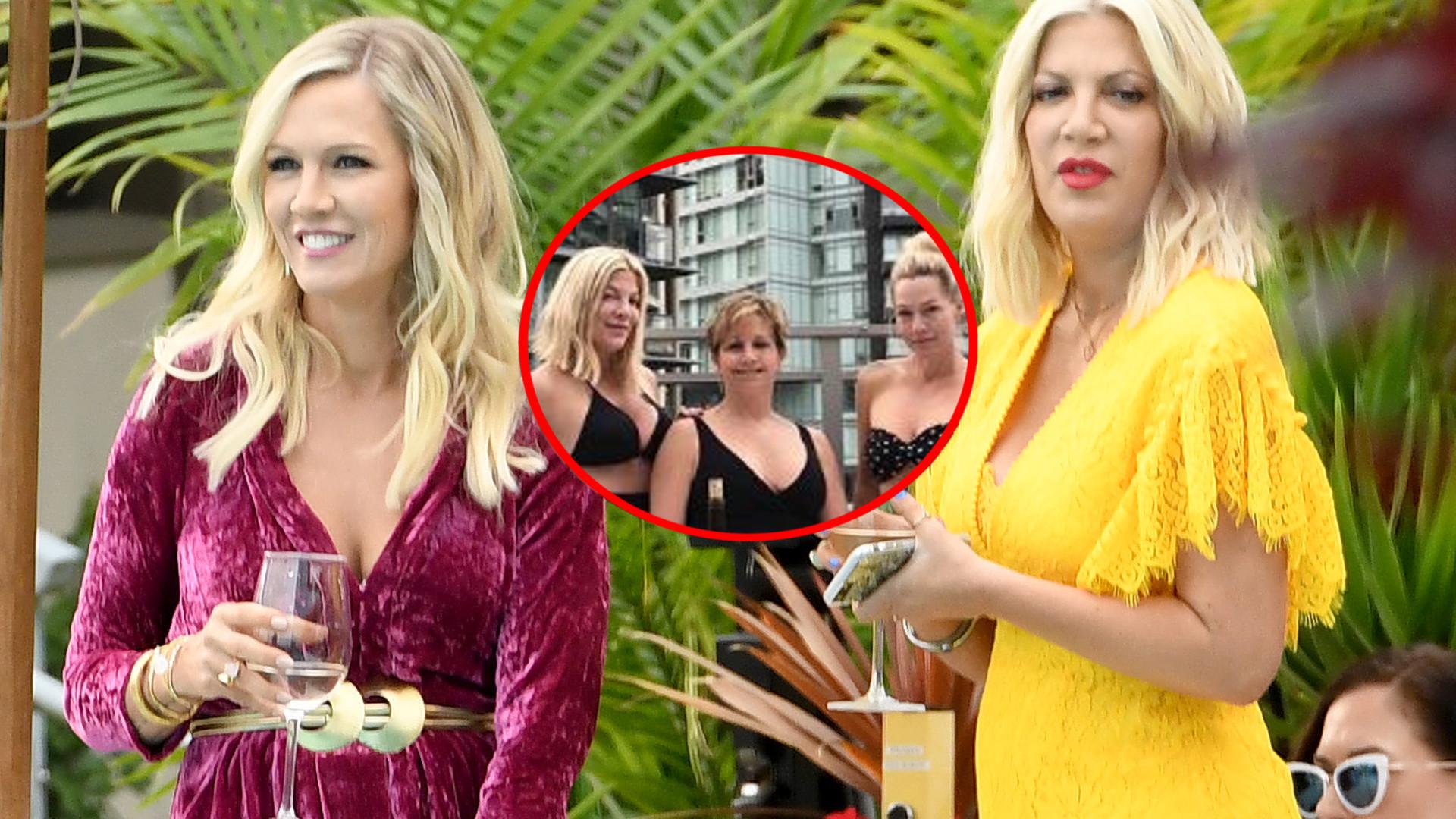 WOW! Tori Spelling i Jennie Garth na planie reaktywowanego Beverly Hills wyglądają ŚWIETNIE! (ZDJĘCIA)