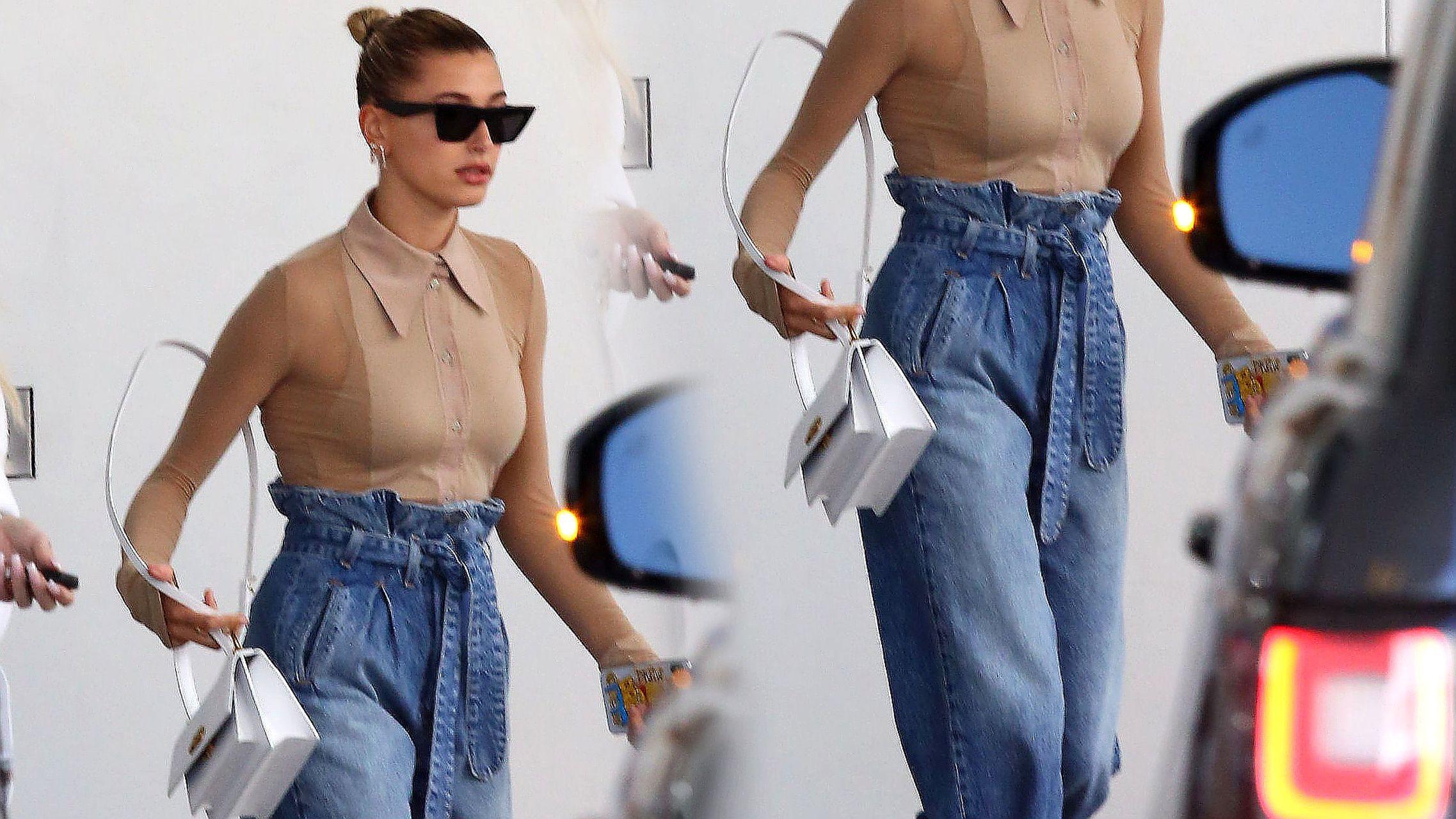 Spodnie to jeszcze nic, zobaczcie BUTY Hailey Bieber (ZDJĘCIA)