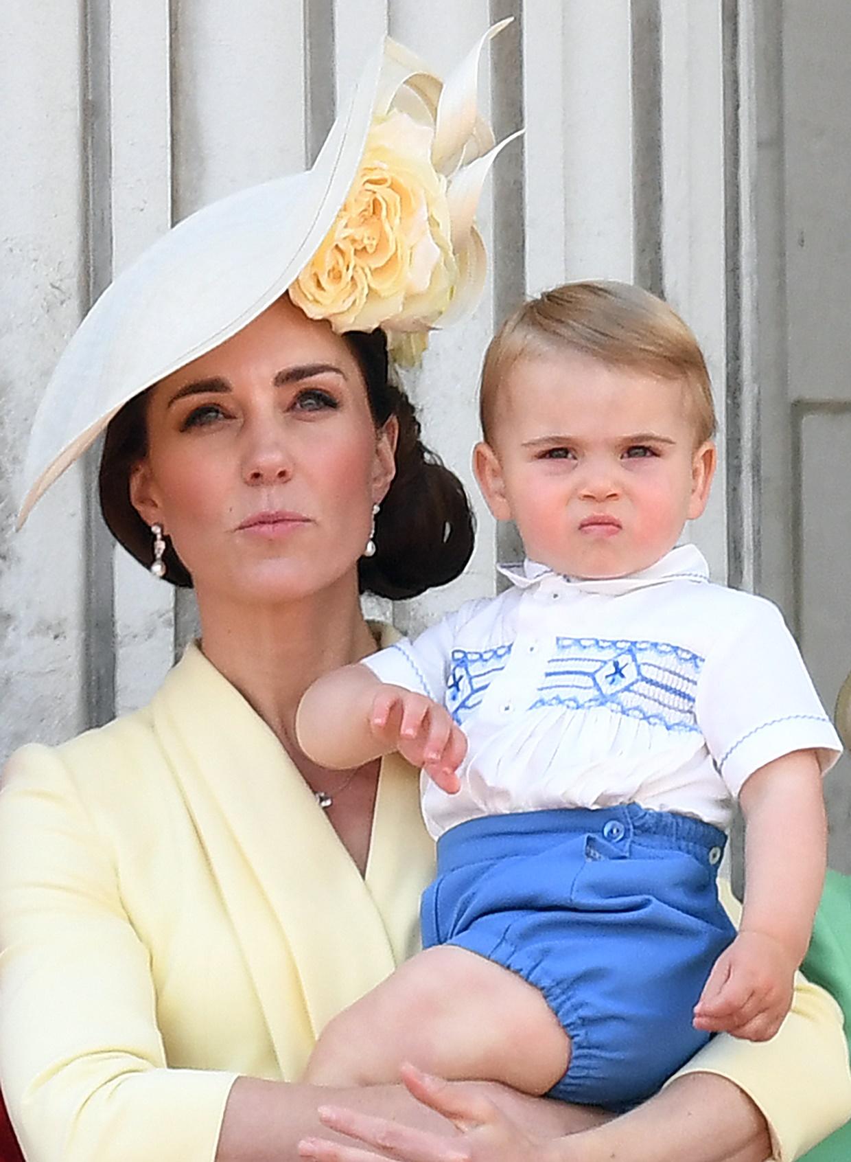 Ksieżna Kate i książę Louis na Trooping the Colour