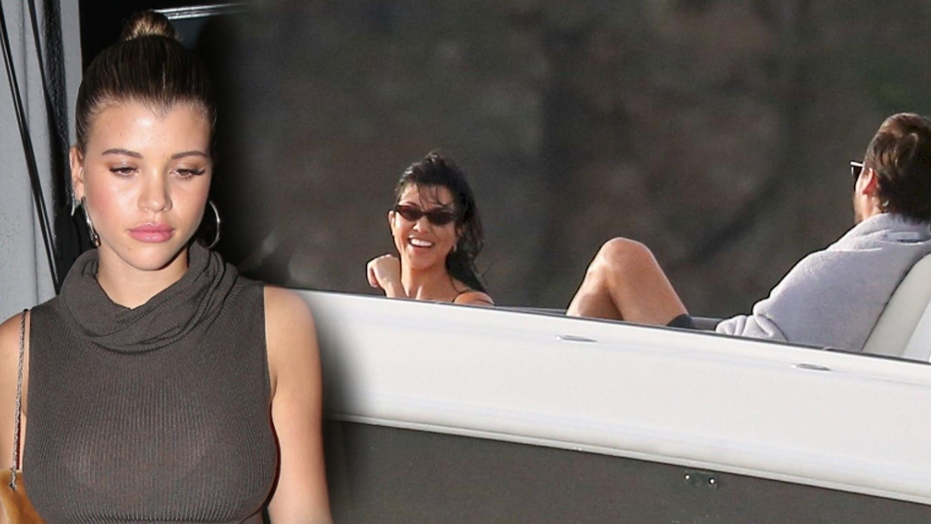 Co robi Sofia Richie, gdy Scott Disick jest na wakacjach z Kourtney Kardashian?