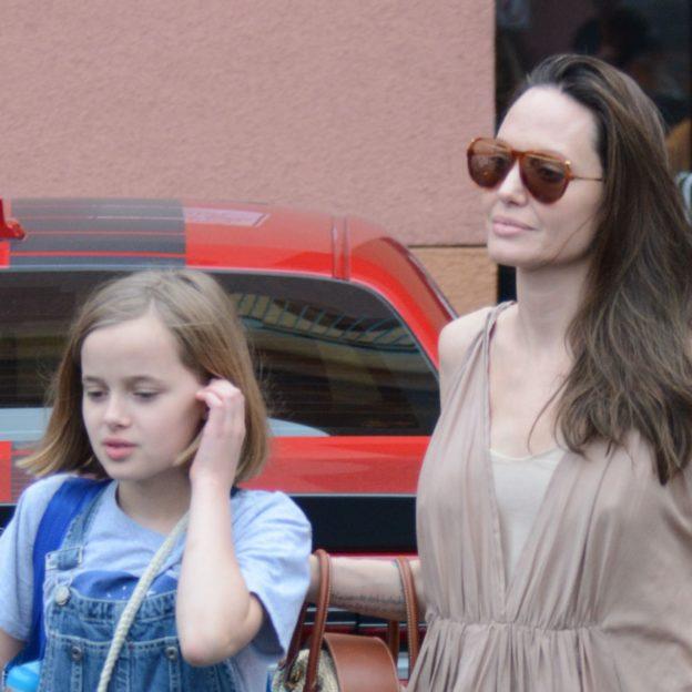 PREMIUM EXCLUSIVE Angelina Jolie looks like a greek goddess in Los Angeles
