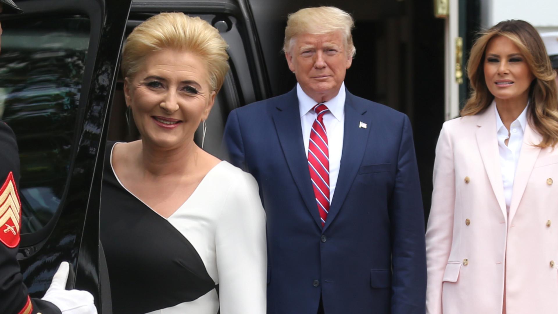 Agata Duda pokazała KLASĘ na oficjalnej wizycie w Białym Domu – jej kreacja jest lepsza niż Melanii Trump (ZDJĘCIA)