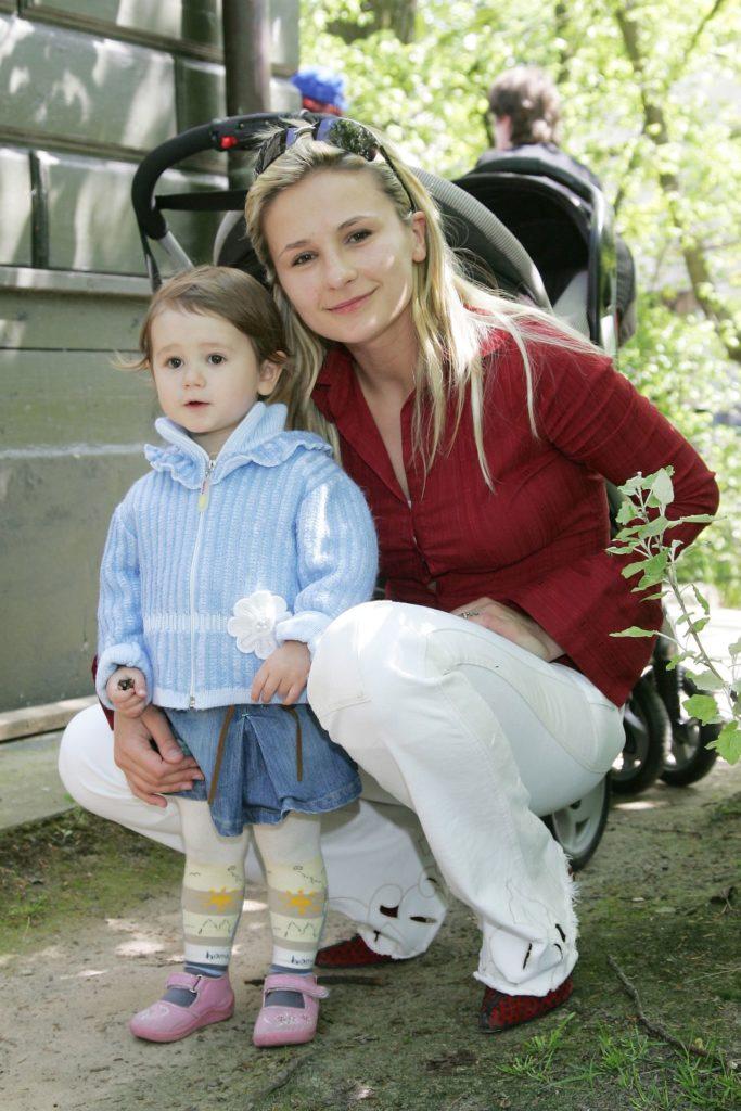 Anna Świątczak z córką Etiennette