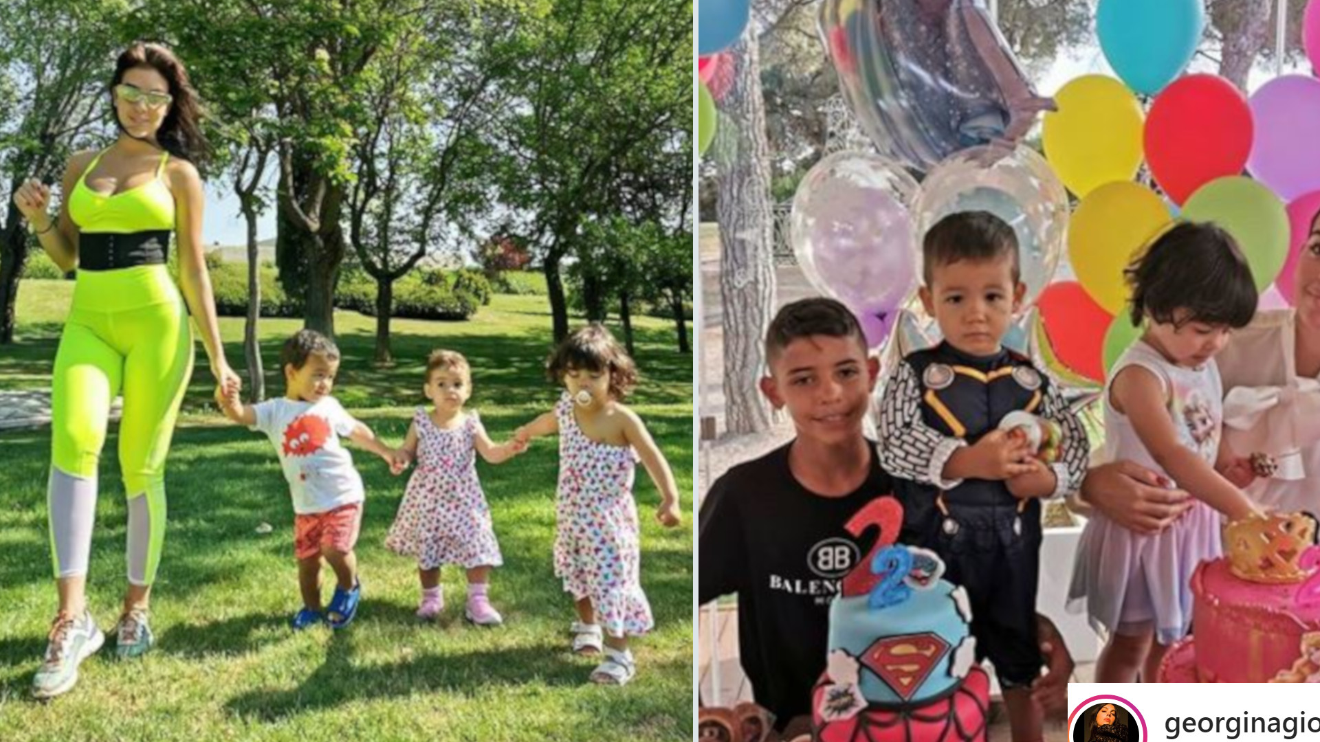Georgina Rodriguez pokazała zdjęcia z imprezy urodzinowej bliźniaków Evy i Mateo – jak u KARDASHIANÓW!