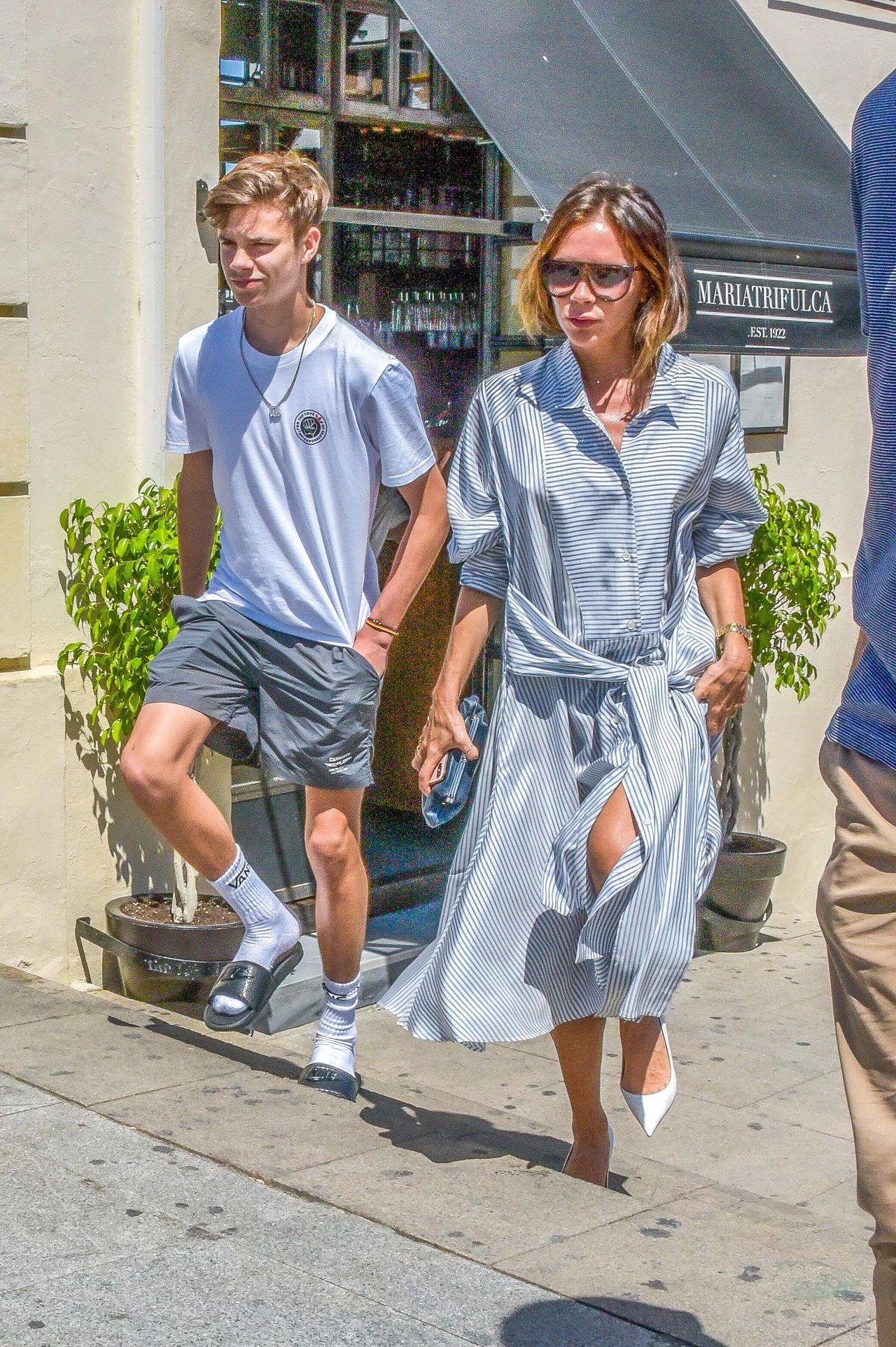 Beckhamowie z dziećmi – Harper, Romeo i Cruzem na wakacjach w Hiszpanii