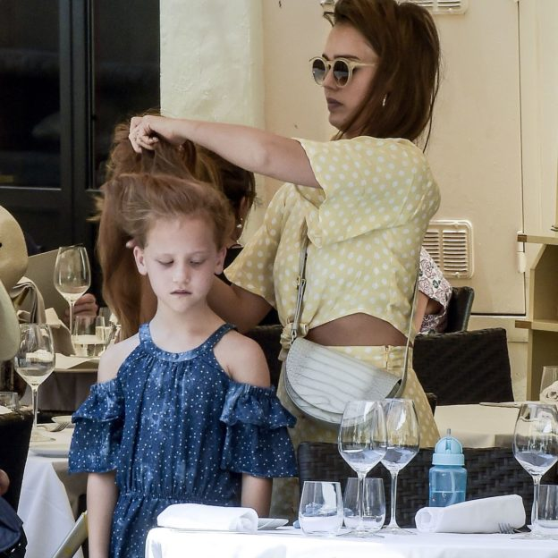 EXCLUSIVE: Jessica Alba holidays in Rome with her children.