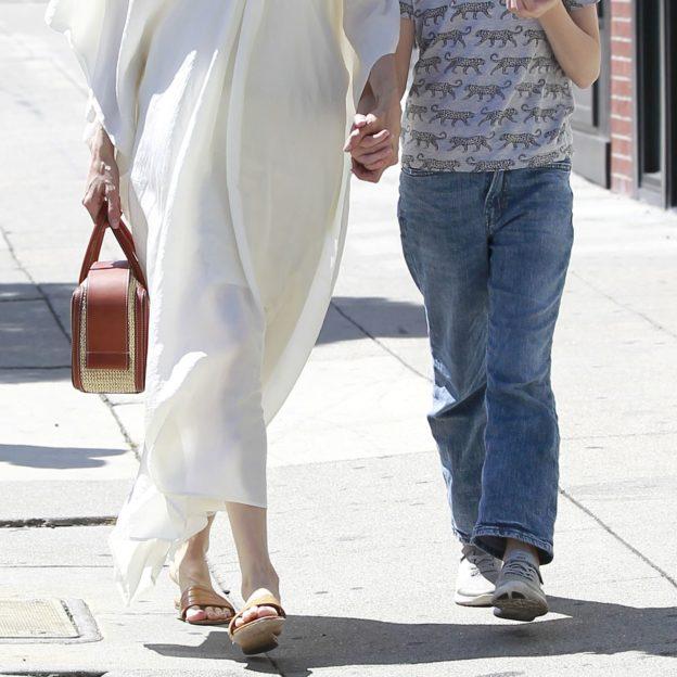 Angelina Jolie and Vivienne Jolie-Pitt seen shopping in Los Feliz.