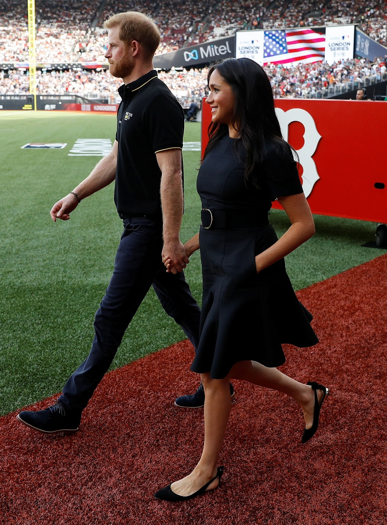 Duke and Duchess of Sussex at London baseball game