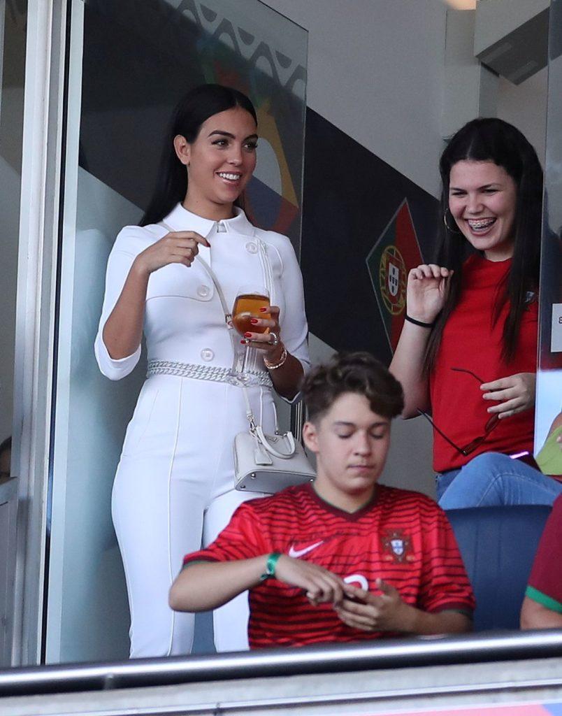 Georgina Rodriguez na meczu
