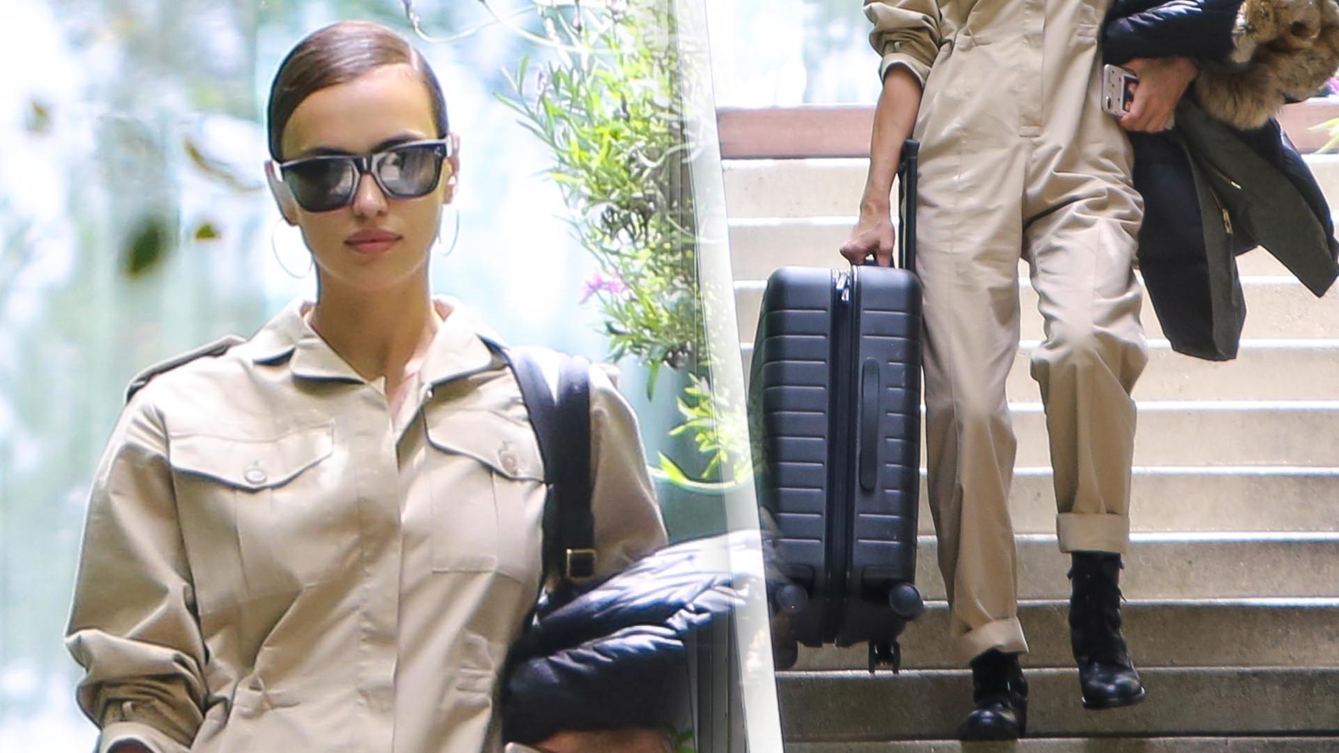 Irina Shayk z WALIZKAMI – wyprowadza się od Bradleya Coopera? (ZDJĘCIA)