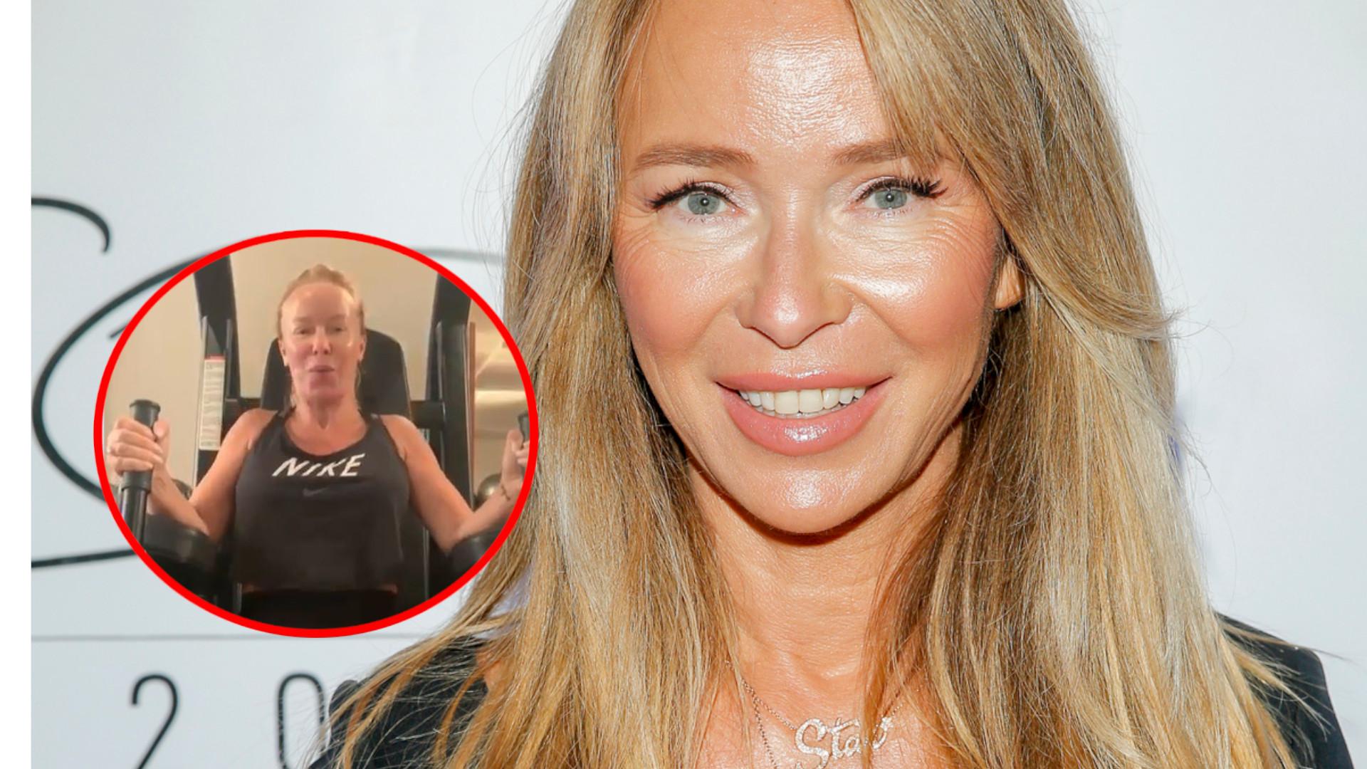 Joanna Przetakiewicz bez makijażu haruje na siłowni: Nie potrafię się oprzeć kotletowi mielonemu z indyka