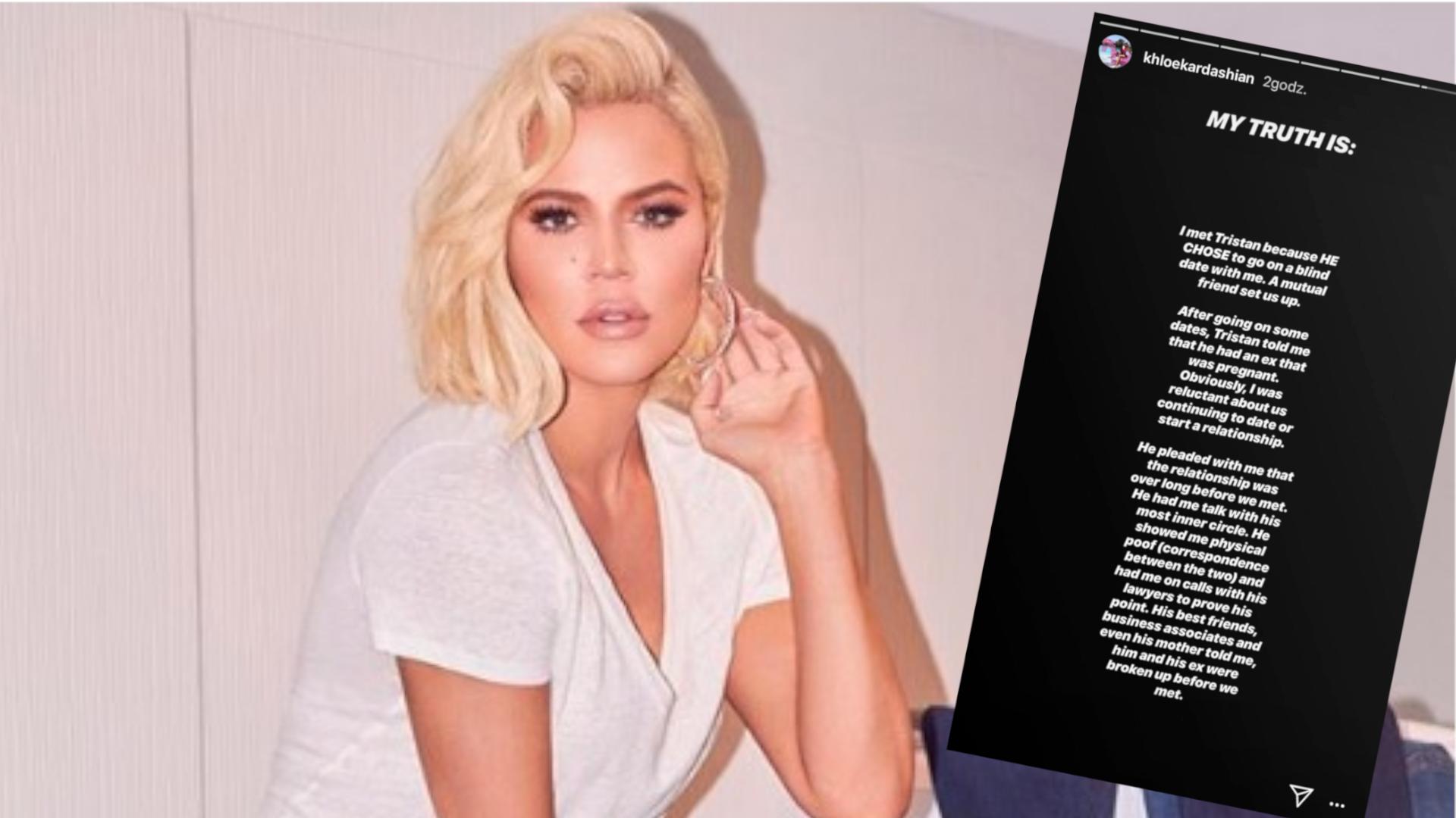 Khloe Kardashian zniszczyła związek Tristana Thompsona? – ODPOWIEDZIAŁA na zarzuty: Moja prawda jest taka…