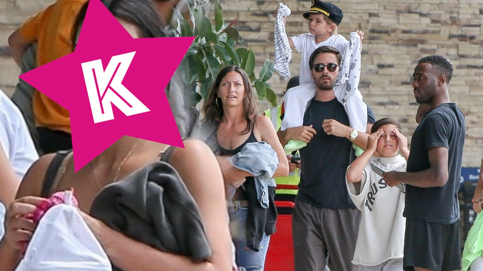 Rodzina Kardashianów wraca z wakacji – Kim Kardashin bez makijażu (Nie spodziewała się zdjęć)