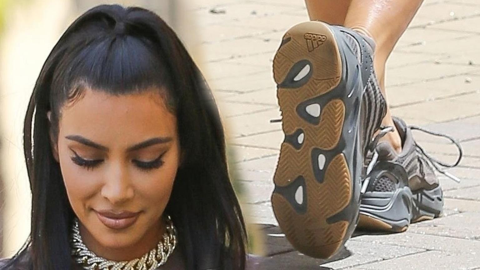 Kim Kardashian w mało seksownej stylizacji na mieście z asystentką