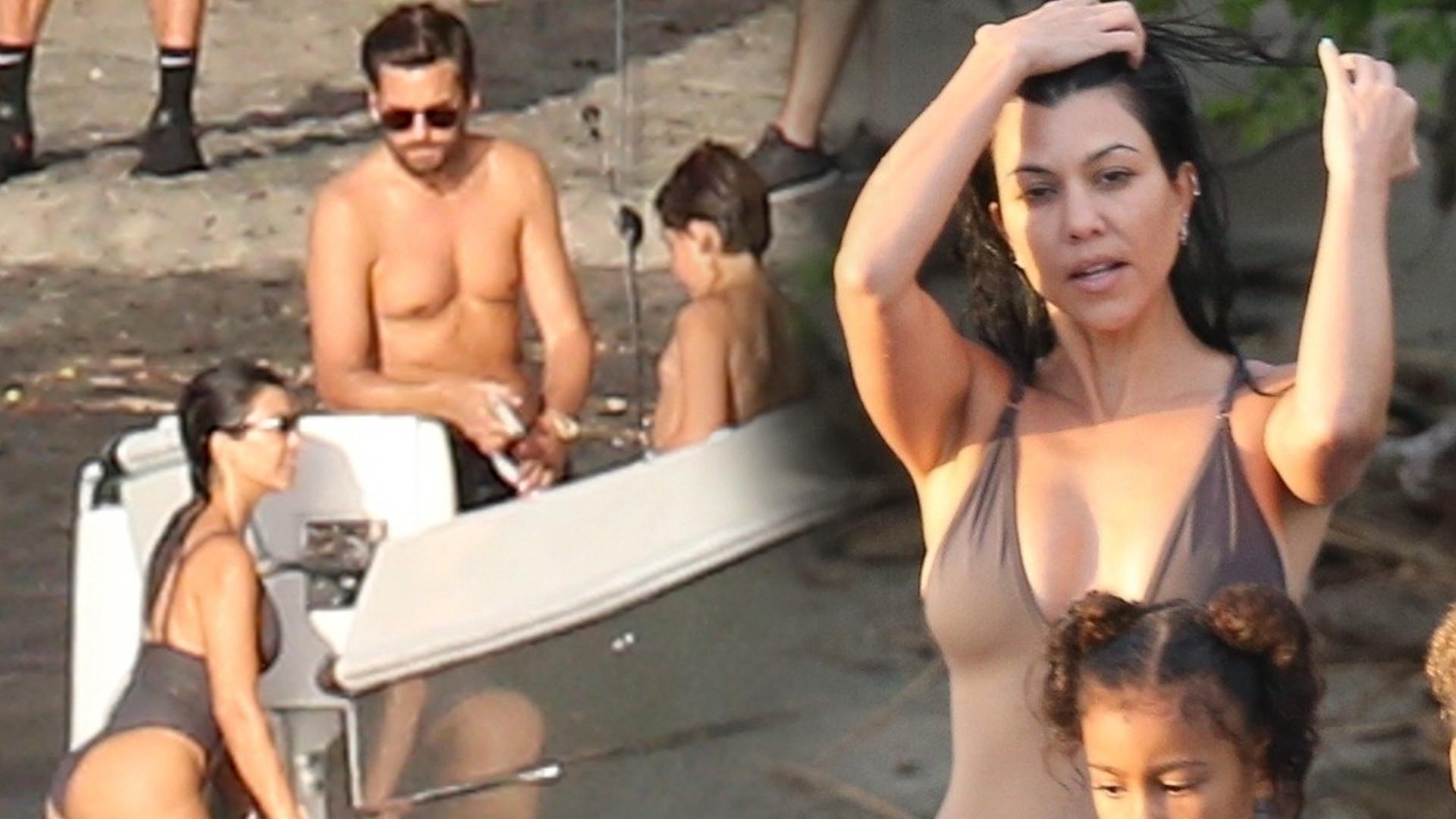 Kourtney Kardashian i Scott Disick SAMI na wakacjach z dziećmi – bez Sofii Richie (ZDJĘCIA)