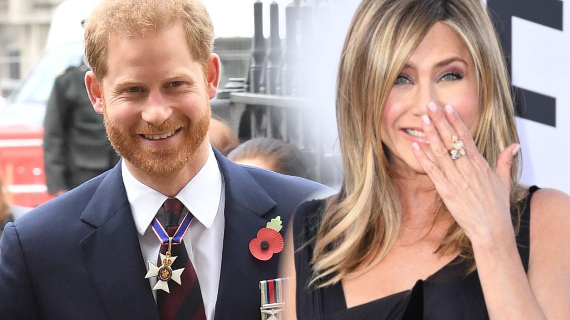 Co łączyło księcia Harry'ego i Jennifer Aniston? Wyszło na jaw, że wysyłał jej SMS-y