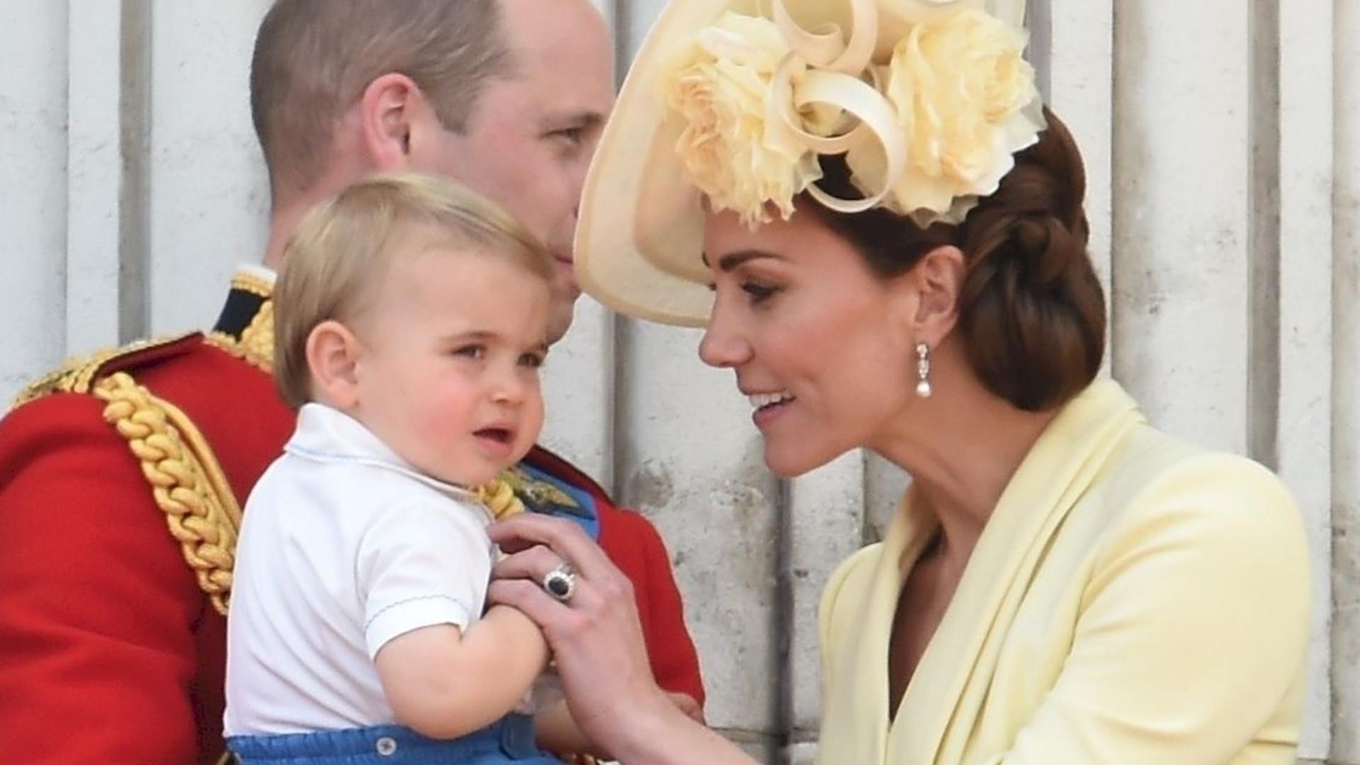 Księżna Kate szybko ZAREAGOWAŁA, gdy książę Louis zaczął robić to na balkonie