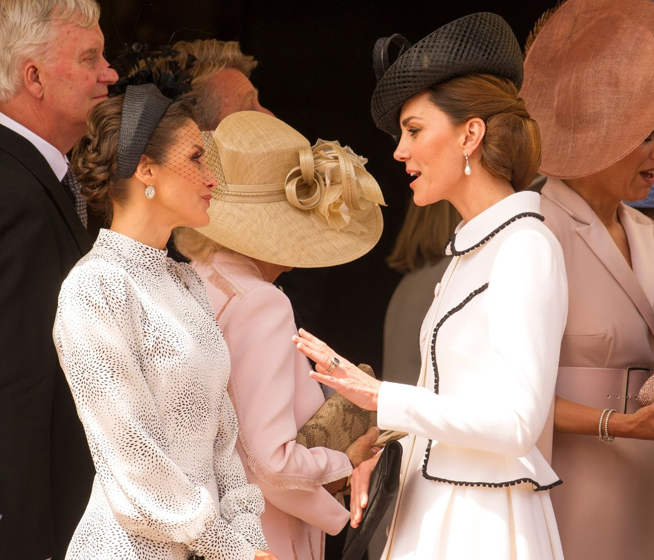 Księżna Kate i królowa Letizia