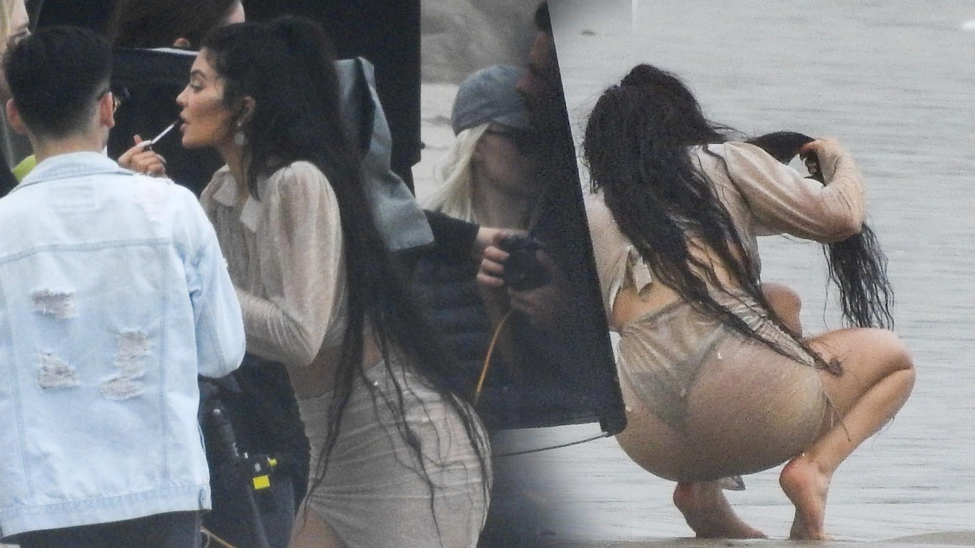 Tak Kylie Jenner pracuje podczas sesji zdjęciowej. Gwiazdorzy?