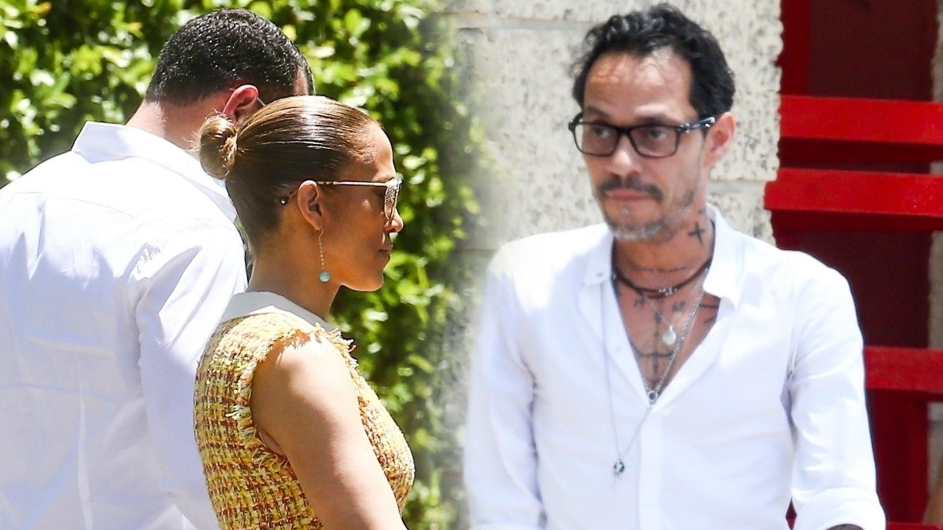 Były mąż Jennifer Lopez jest bardzo CHUDY – Marc Anthony spotkał się z JLo na występie ich syna (ZDJĘCIA)
