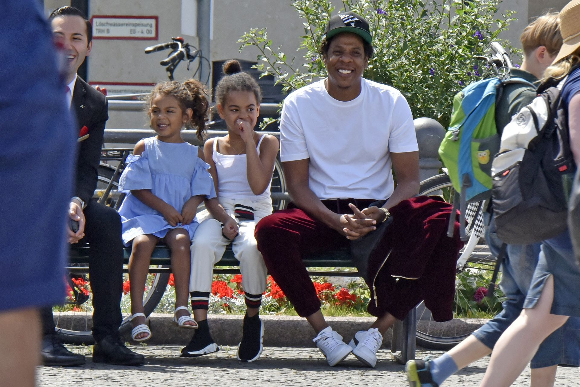 EXCLUSIVE: Jay-Z seen in a park with his daughter Blue Ivy Carter whilst in Berlin