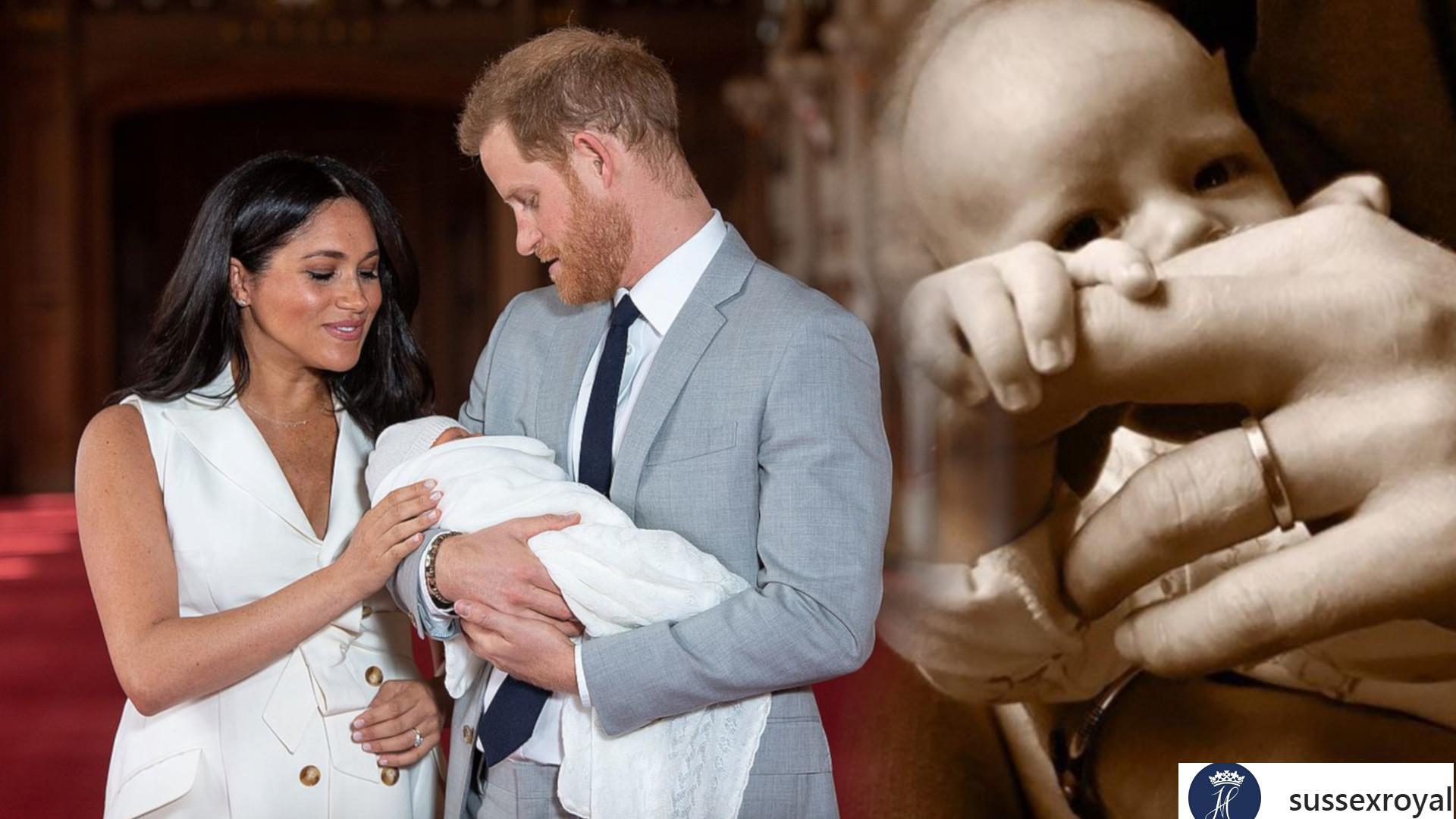 Dlaczego księżna Meghan i książę Harry nie pokazują całej twarzy dziecka?
