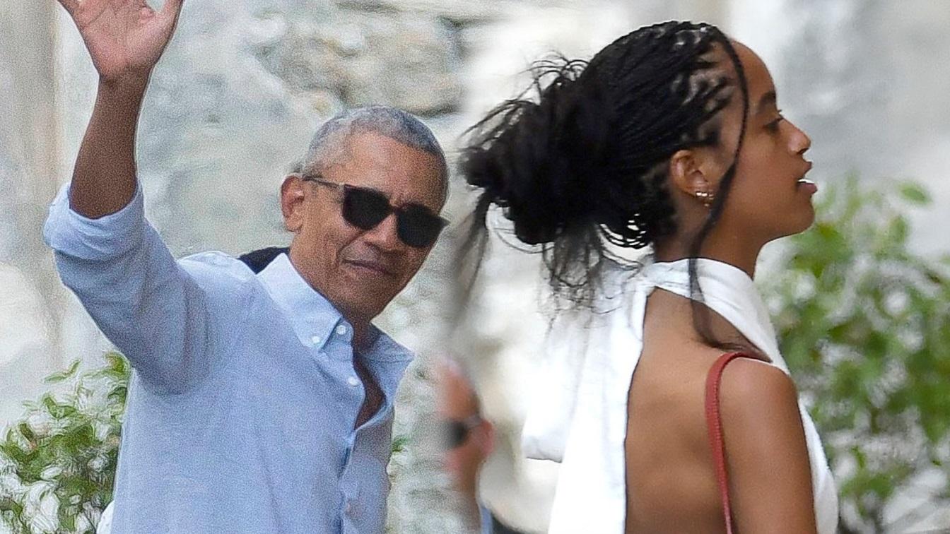 Rodzina Obamów na wakacjach we Francji. Jak córki wyrosły! (ZDJĘCIA)