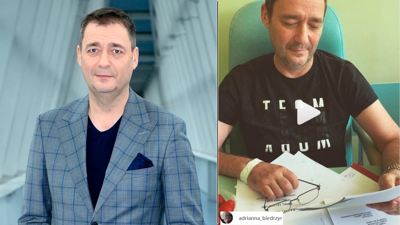 Aktorka, Adrianna Biedrzyńska nagrała Jacka Rozenka w szpitalu – Widać znaczną poprawę (WIDEO)