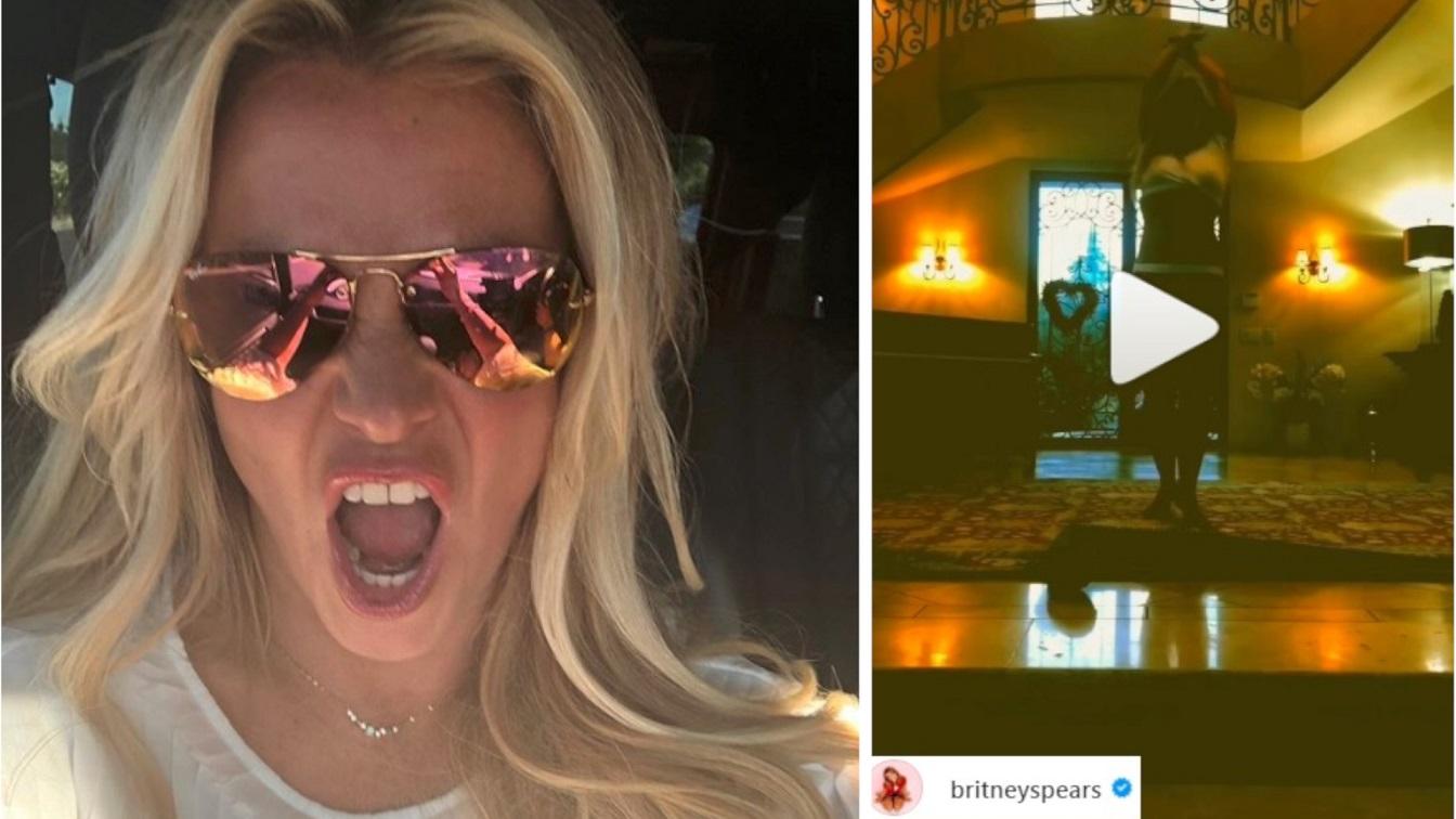 Britney Spears wrzuciła kolejny kompromitujący filmik – tańczy z pluszowym wężem