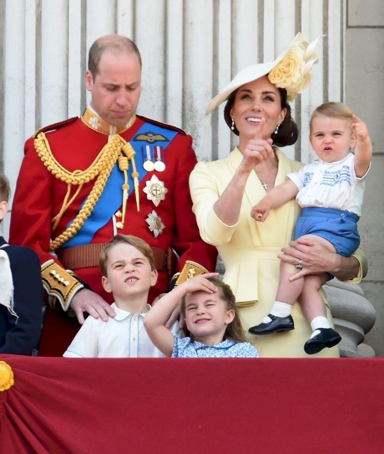 Kate i William z dziećmi na Trooping The Colour