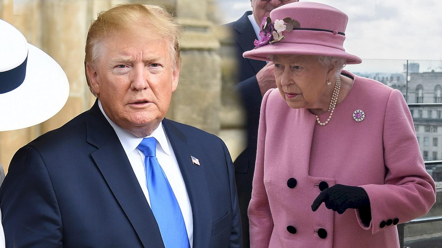 Donald Trump zasnął podczas przemówienia królowej Elżbiety II (WIDEO)
