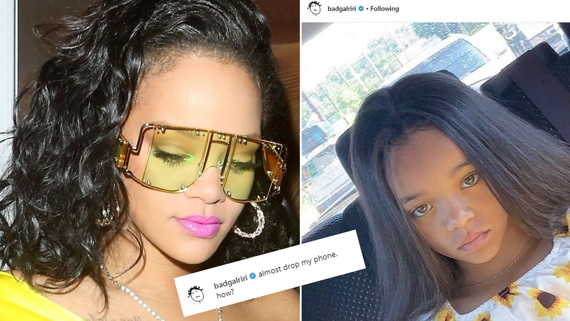 Rihanna: Prawie upuściłam telefon! Gwiazda znalazła swoją małą SOBOWTÓRKĘ