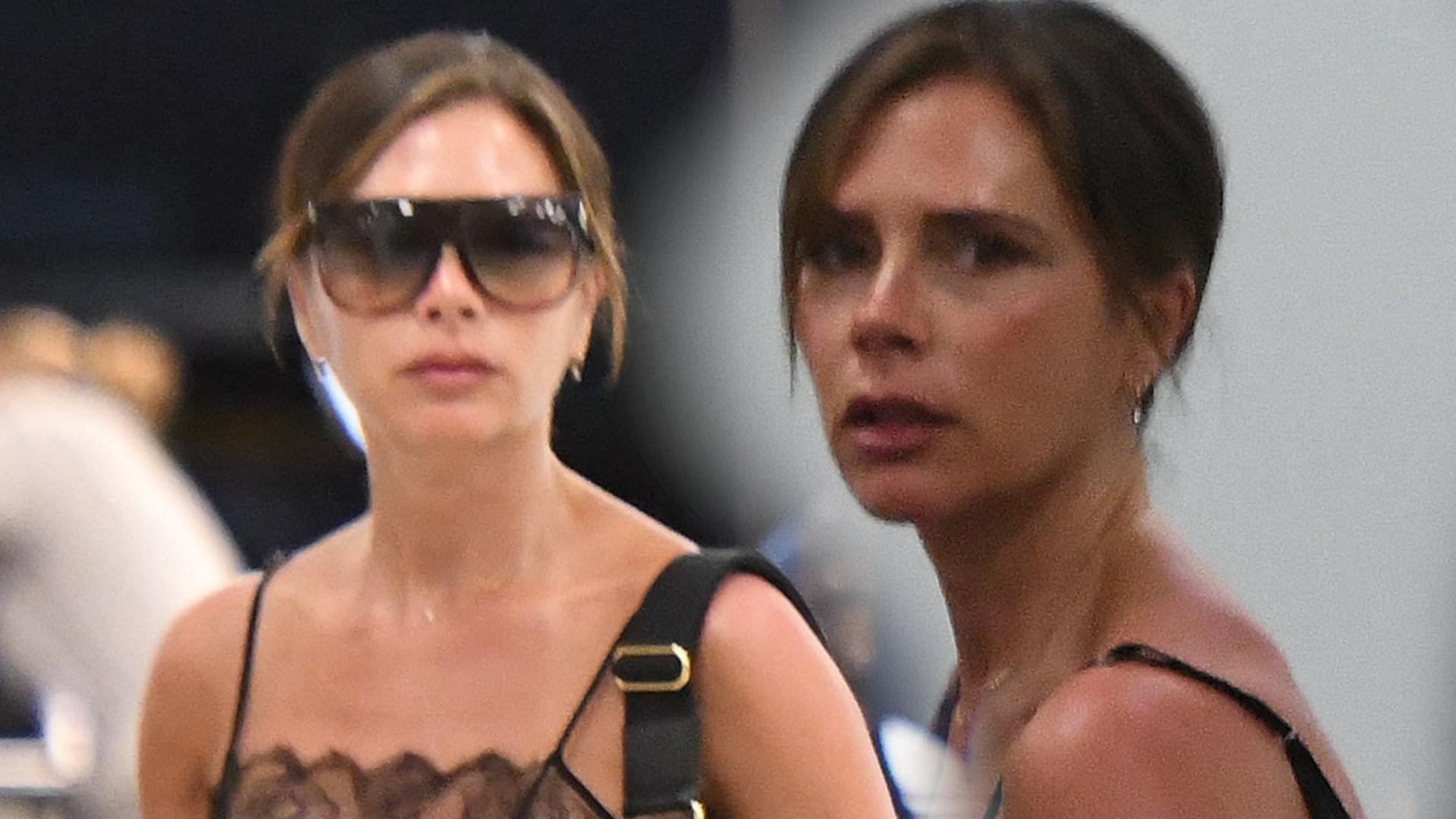 WOW! Tak odważna już dawno nie była – Victoria Beckham w seksownej sukience na lotnisku (ZDJĘCIA)