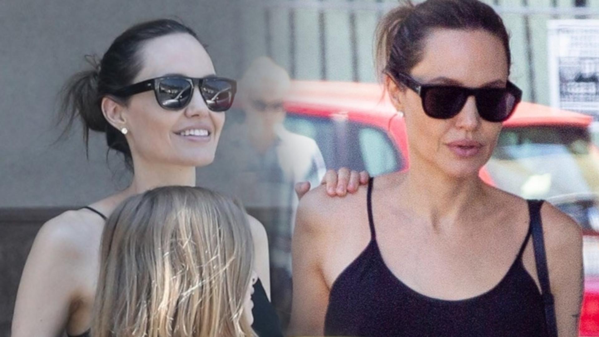 Angelina Jolie z córką Vivienne wychodzą z apteki z dużymi pakunkami w rękach (ZDJĘCIA)
