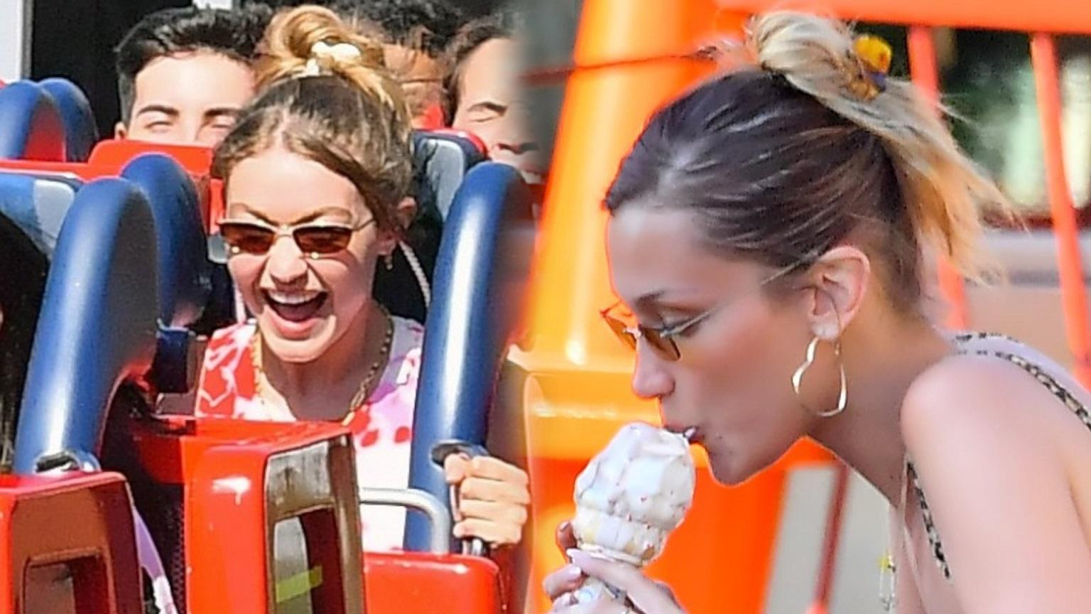 Bella i Gigi Hadid bawią się w Disneylandzie – zapomniały, że są gwiazdami