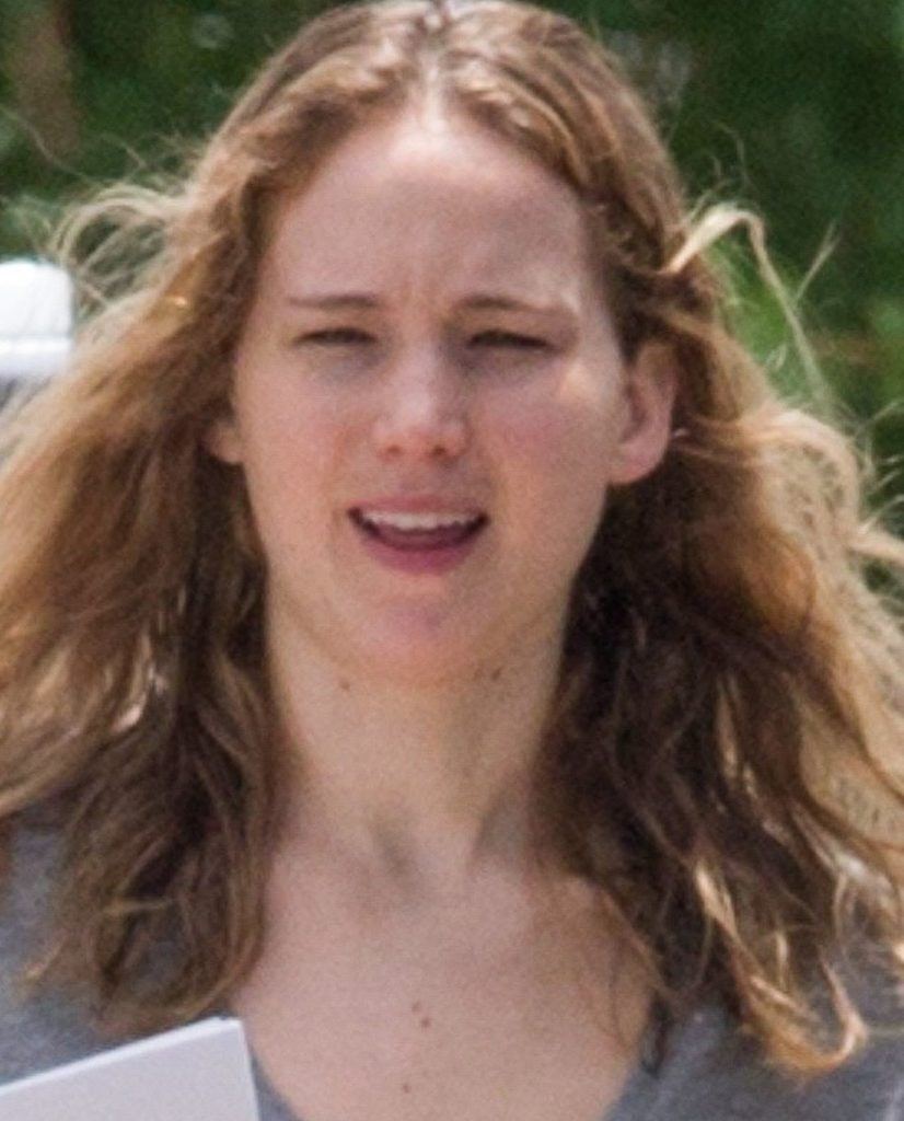 Jennifer Lawrence bez makijażu