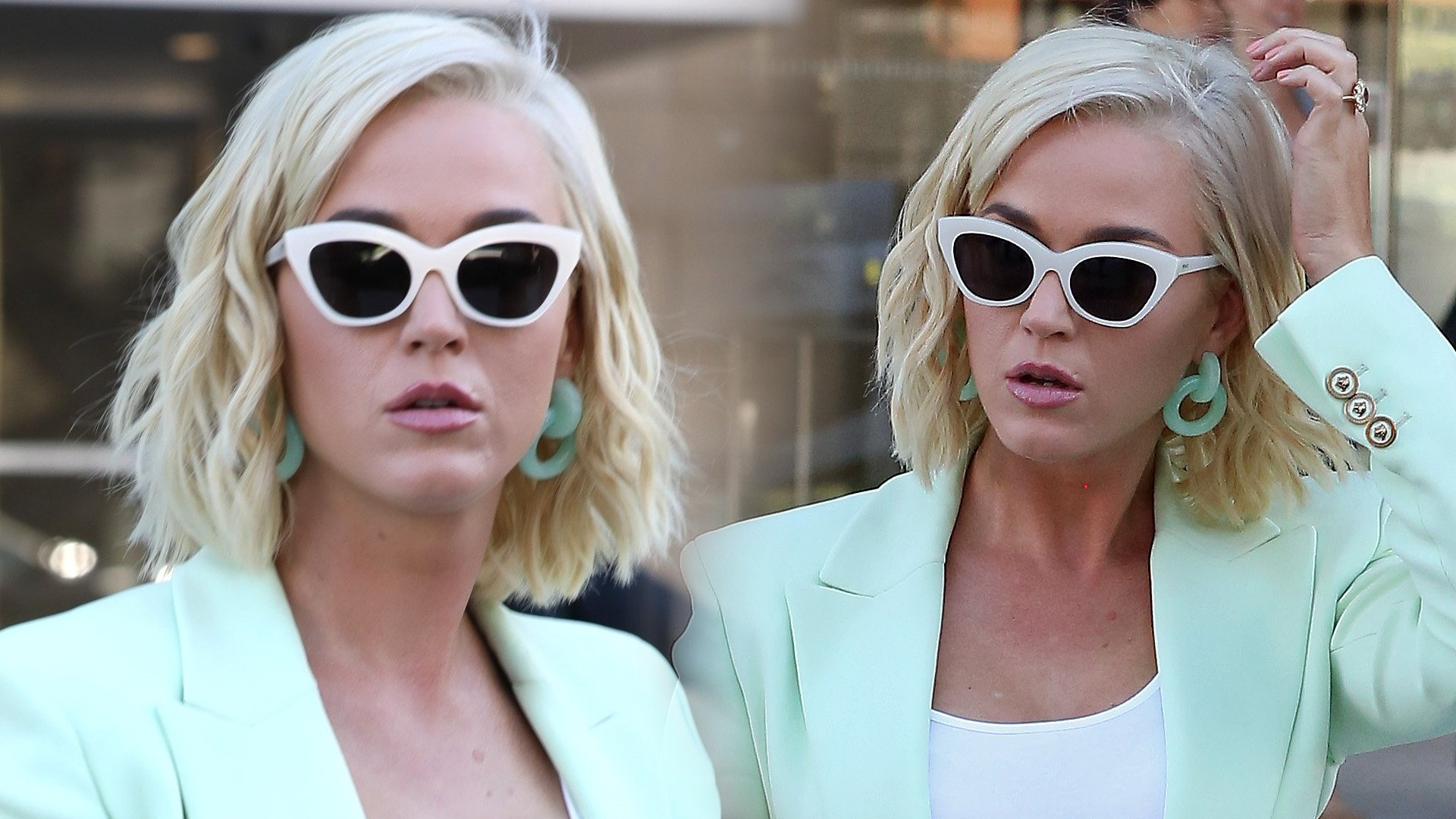 Katy Perry idzie do sądu – marynarka ledwo się dopięła na jej brzuchu (ZDJĘCIA)