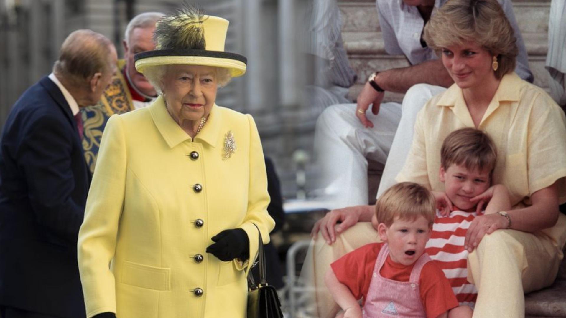 To niespotykany widok! Elżbieta II BIEGNIE za wnukiem i zatrzymuje go łapiąc za rękę (VIDEO)