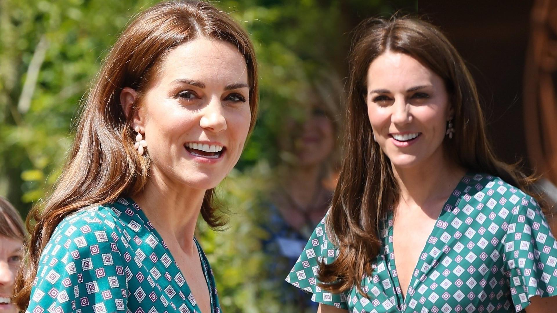 Księżna Kate na spotkaniu w ogrodzie w ZNIENAWIDZONYCH butach królowej Elżbiety (ZDJĘCIA)